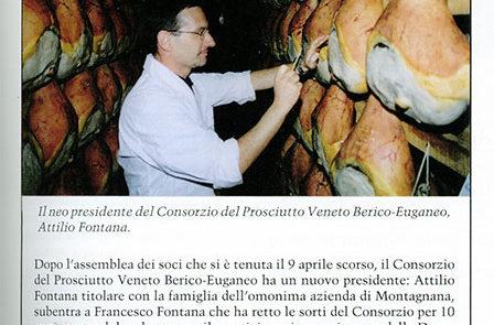 Elezione presidenza Consorzio del Prosciutto Veneto Berico-Euganeo