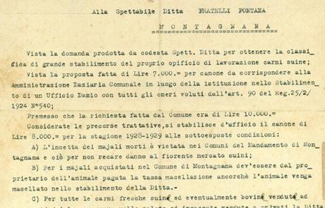 Richiesta canone da Amministrazione Daziaria Comunale 1928