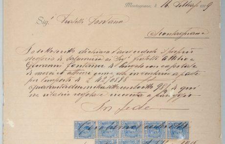 Documento di fondazione Attilio Fontana del 1919