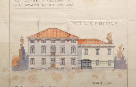 Prospetto restyling della facciata del 1925