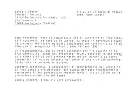assegnazione premio Dino Villani