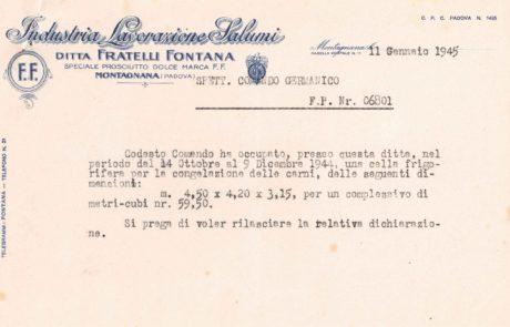 occupazione cella frigoriferia 1945